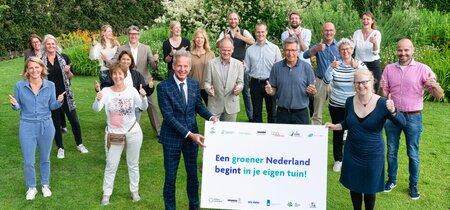 Organisaties werken samen in 'Een groener Nederland begint in je eigen tuin'